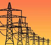 Clip Art of Electricity Pylons k10363077.