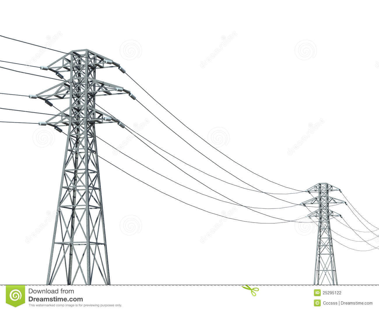 Pylons Stock Illustrations.
