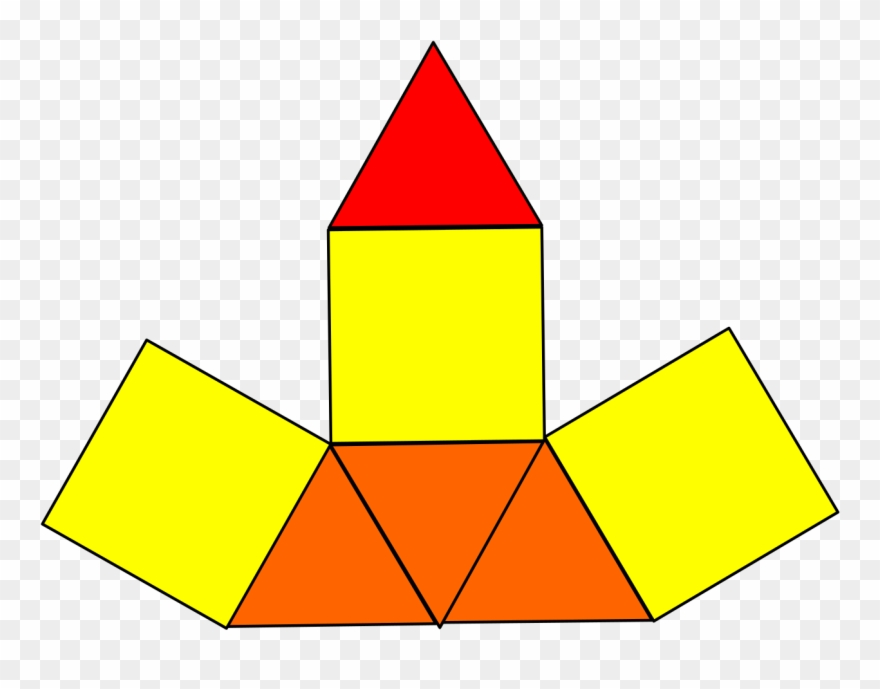 Elongated Triangular Pyramid Net.