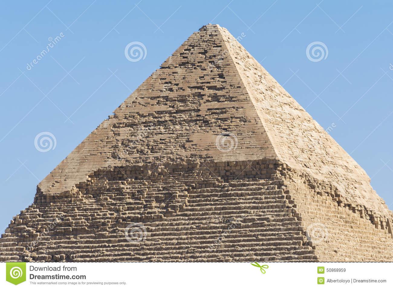 Pyramid Of Khafre, Giza, Egypt Stock Photo.