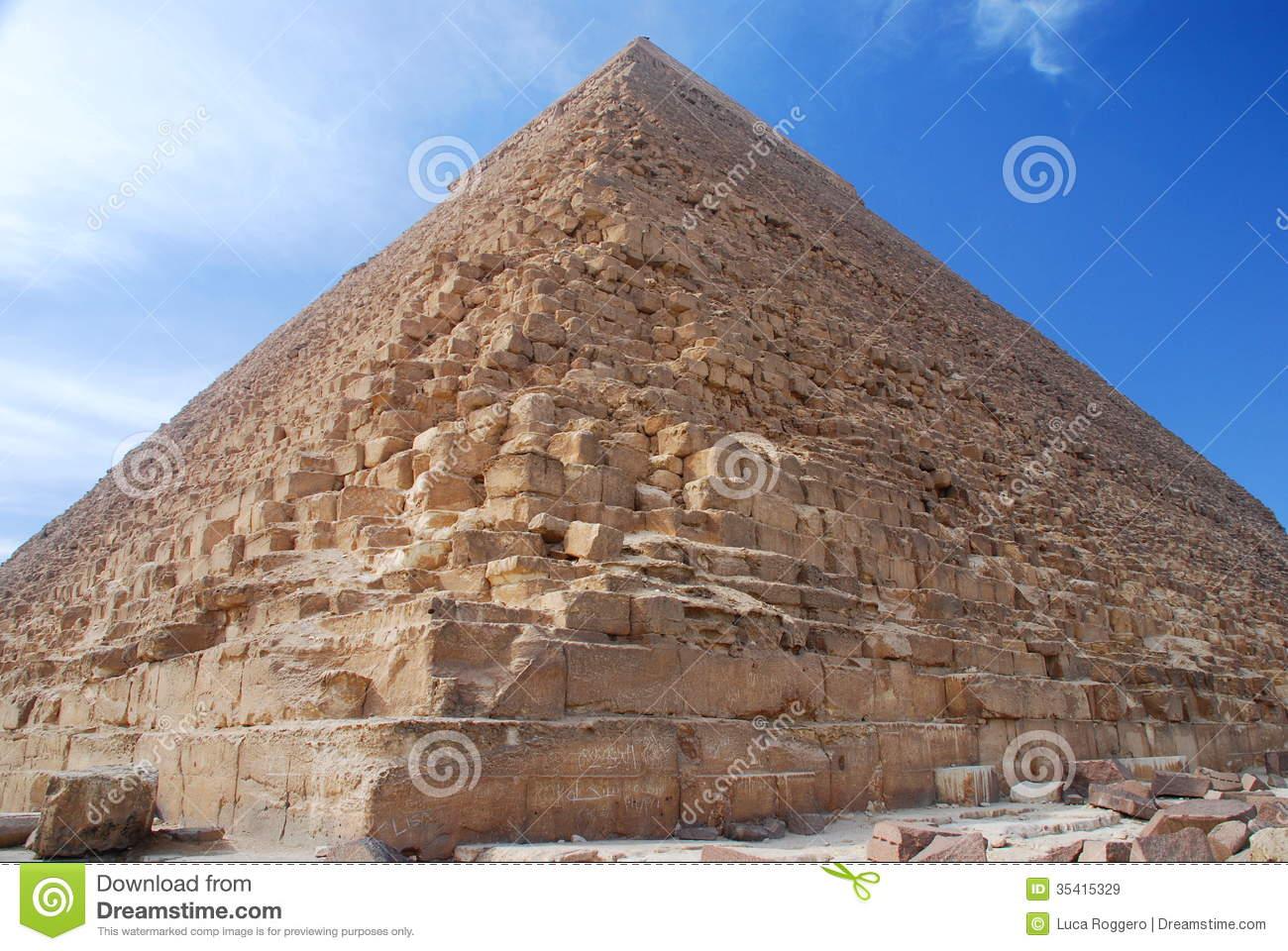Pyramid Of Khafre (Chephren). Giza, Egipt Royalty Free Stock.