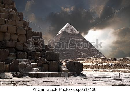 Stock Image of Pyramids Storm.