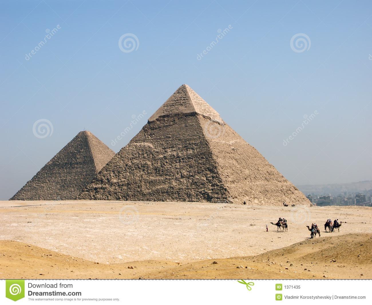 The Pyramid Of Khephren (Khafre) Royalty Free Stock Photo.