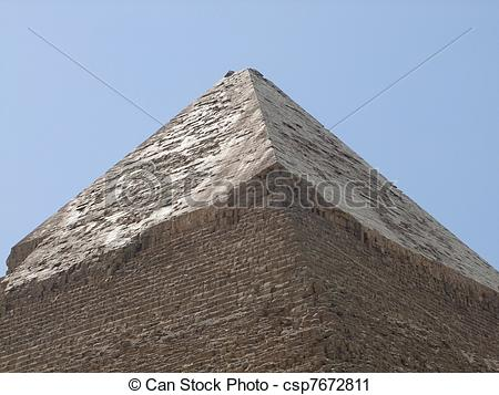 Stock Photography of Pyramid of Khafre detail.