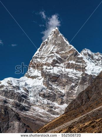Sharp Mountain Peaks Stock Photos, Royalty.