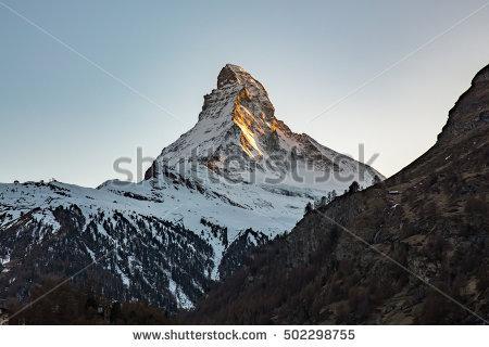 Matterhorn Zermatt Near Stock Photos, Royalty.