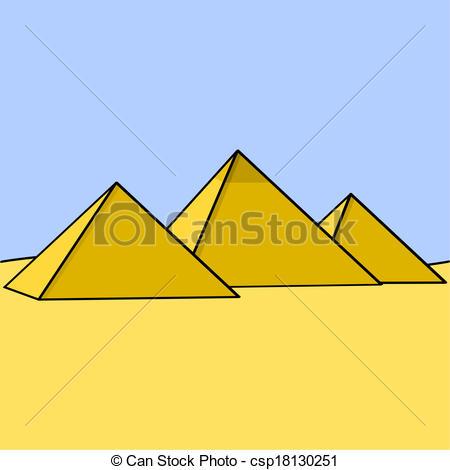 Clipart Vektor von ägypter, Pyramiden.