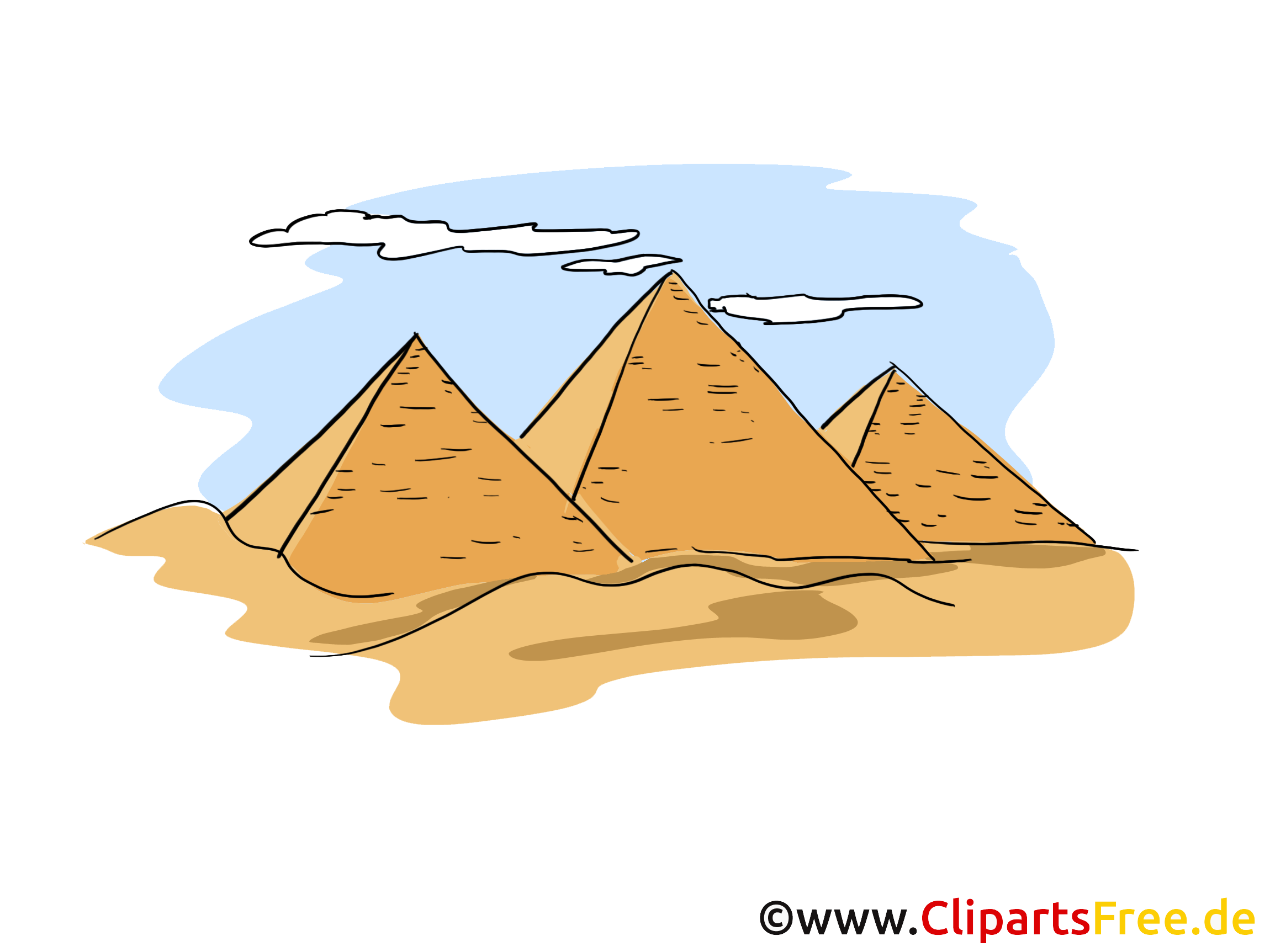 Pyramiden Clipart, Bild, Cartoon.