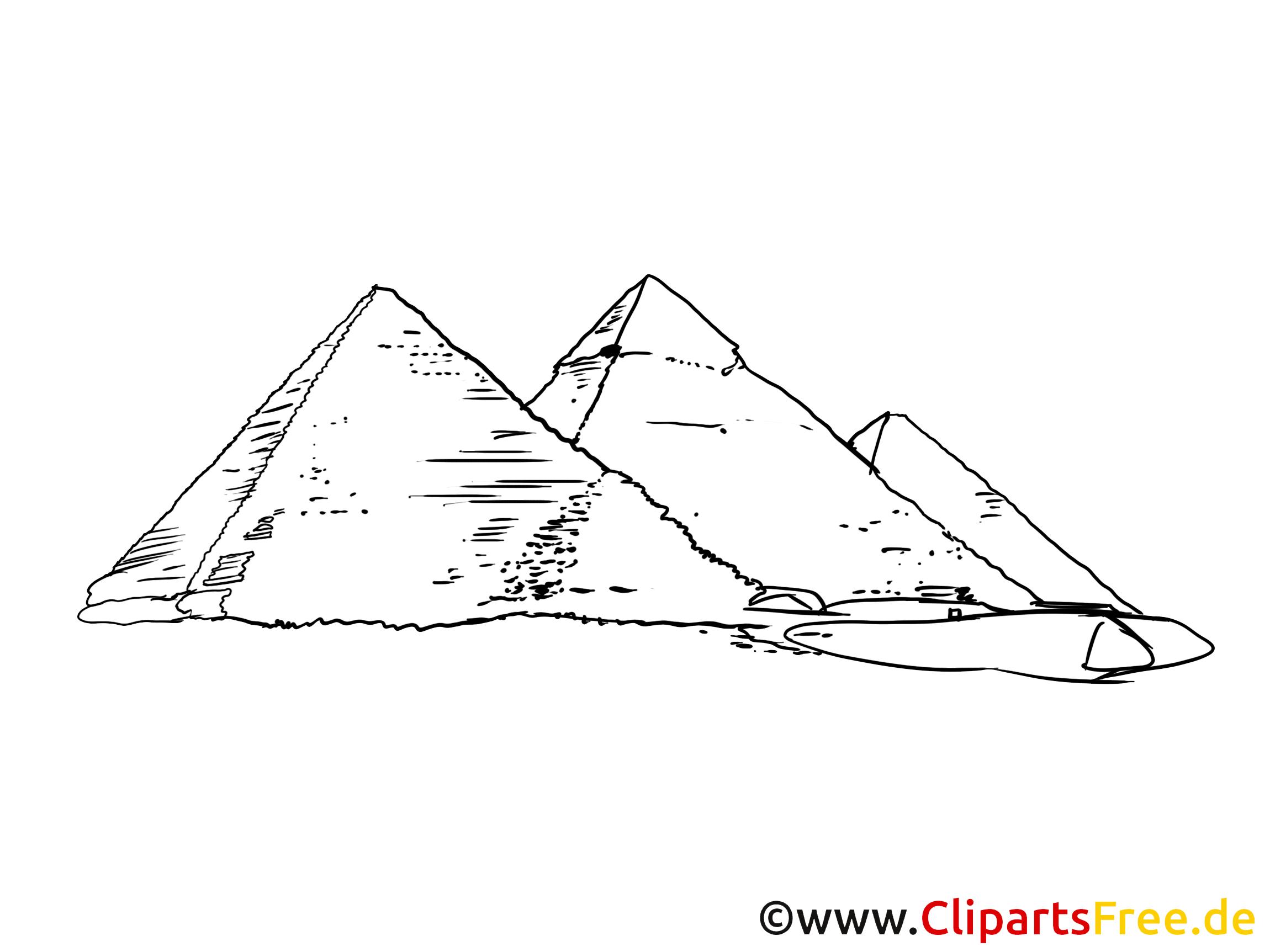 Pyramiden Bild, Zeichnung, Clipart gratis.