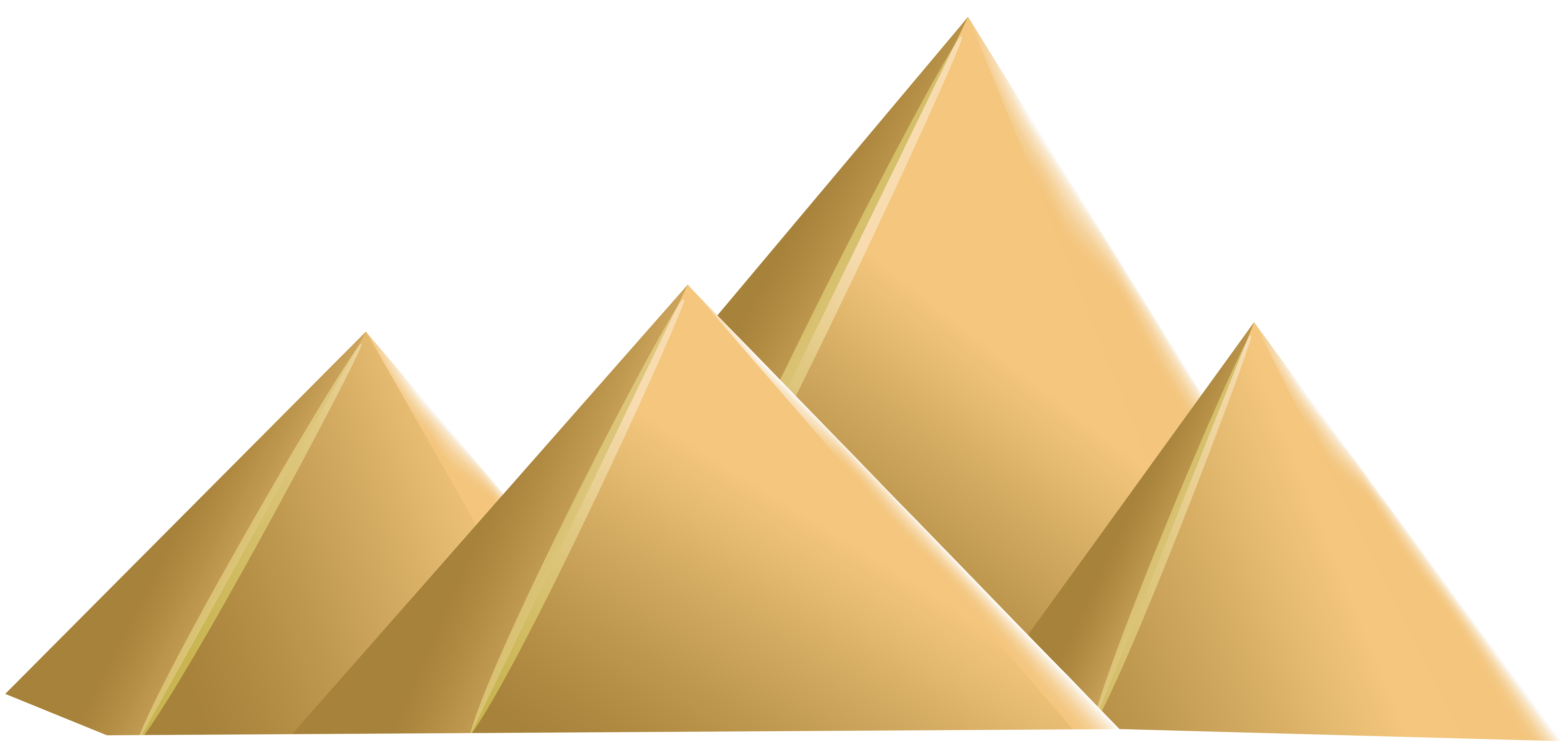 Egyptian Pyramids PNG Clip Art.
