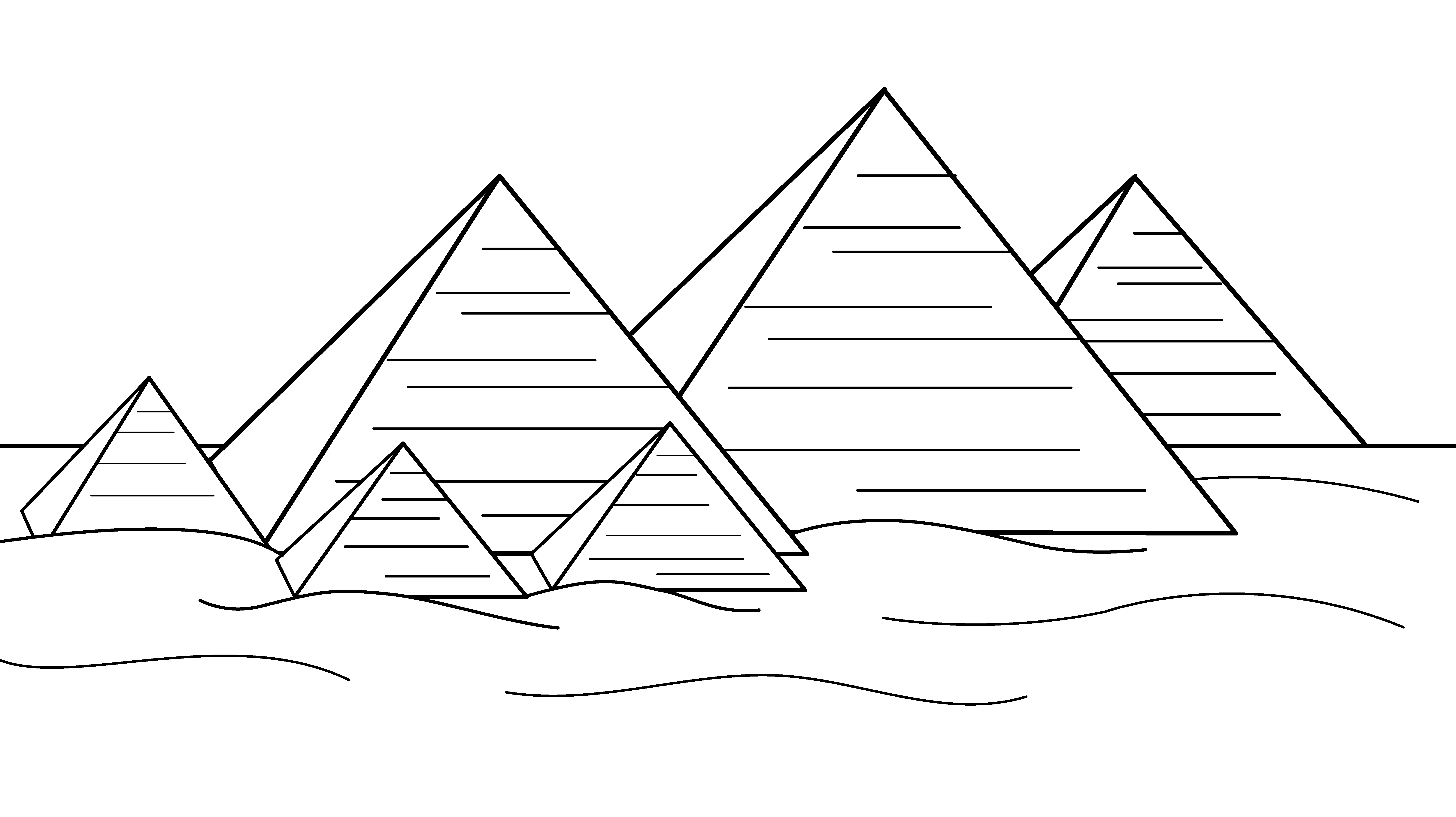 Pyramids of Egypt Coloring Page.