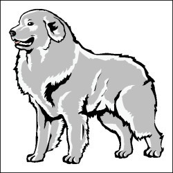Gallery For > Great Pyrenees Dog Clipart.