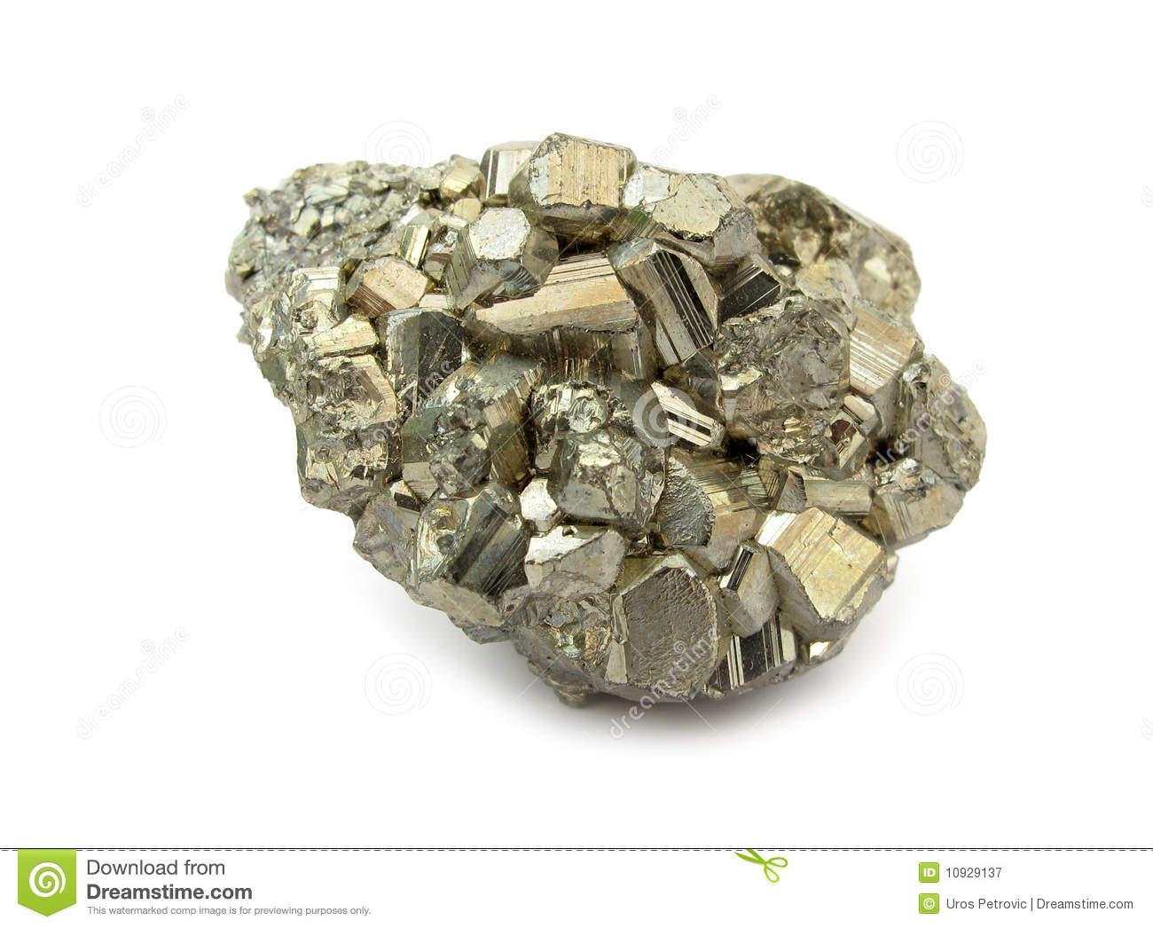 Pyrite Mineral Clip Art.