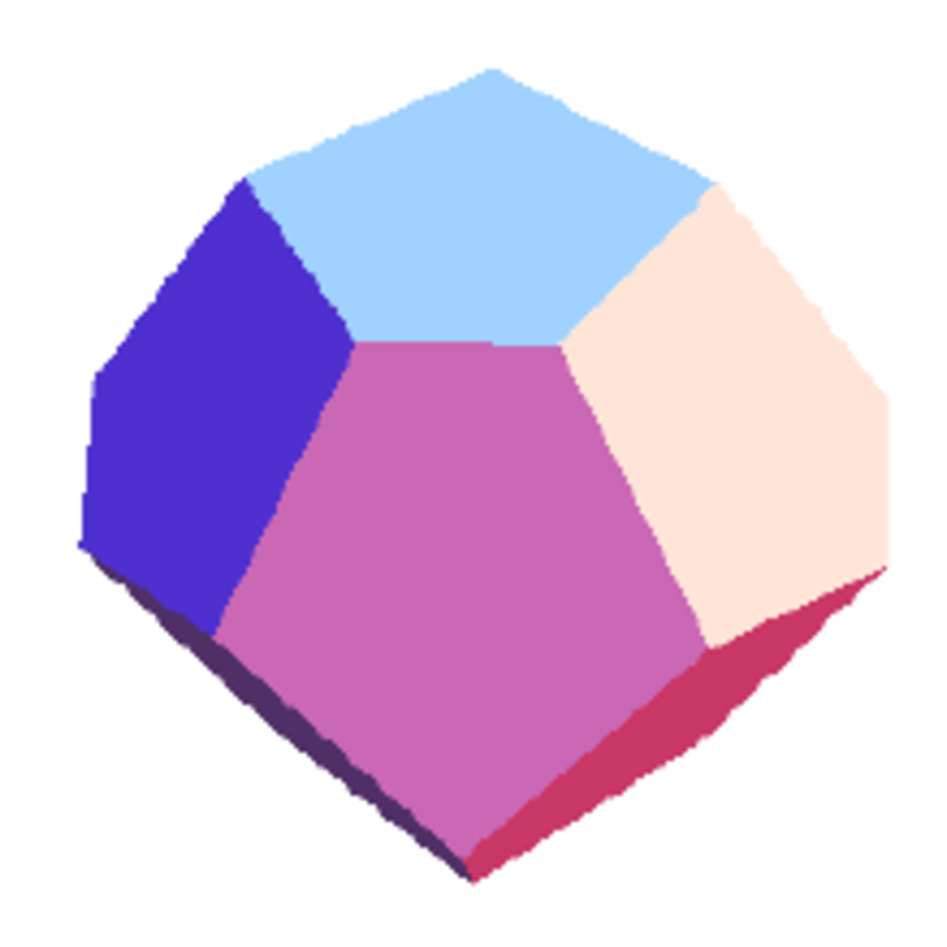 The pyritohedron consisting of irregular pentagonal faces.