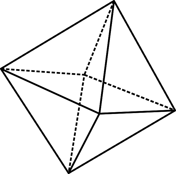Octahedron Clip Art at Clker.com.