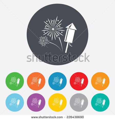 Rockets Fireworks Stock Photos, Royalty.