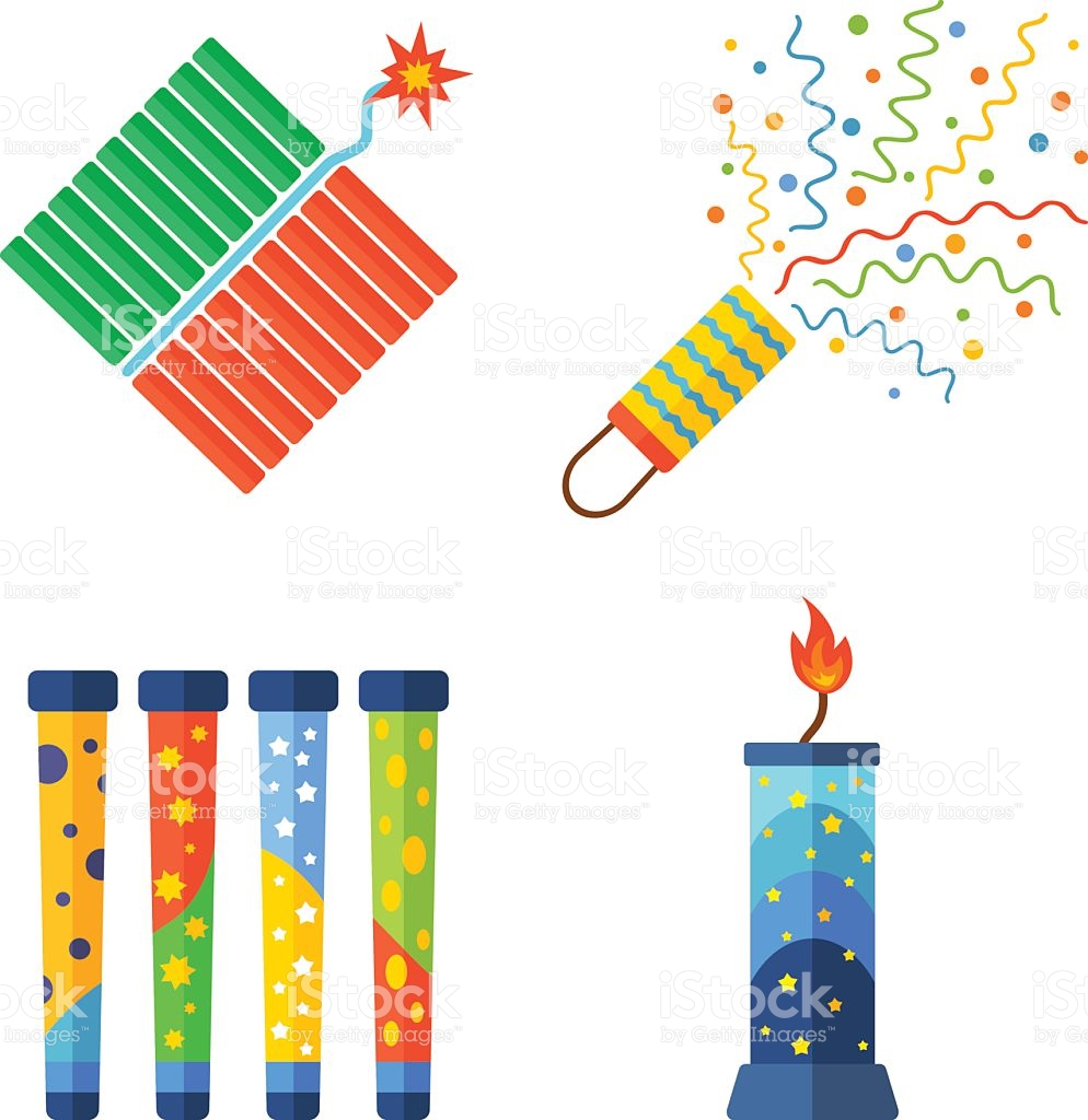 Pyrotechnics And Fireworks Vector Icon stock vector art 542288572.
