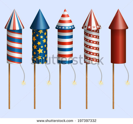 Fourth Of July Fireworks Stock Photos, Royalty.
