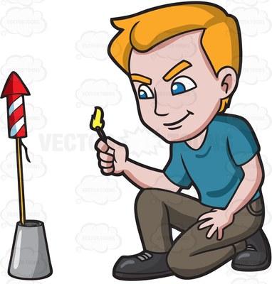 pyrotechnic Cartoon Clipart.