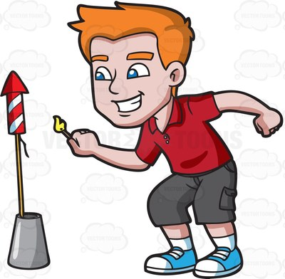 pyrotechnic Cartoon Clipart.