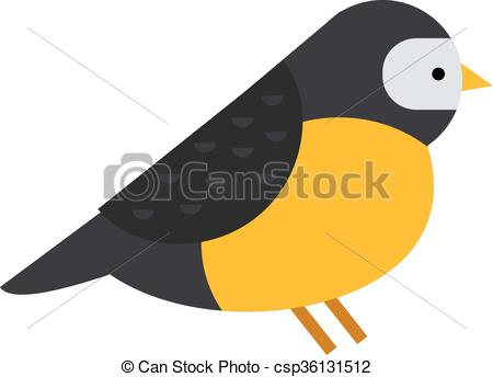 Vector Clip Art of Bullfinch colorful nature winter bird pyrrhula.