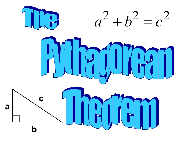 Pythagorean theorem clipart.