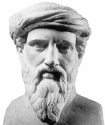 Pythagoras bust.