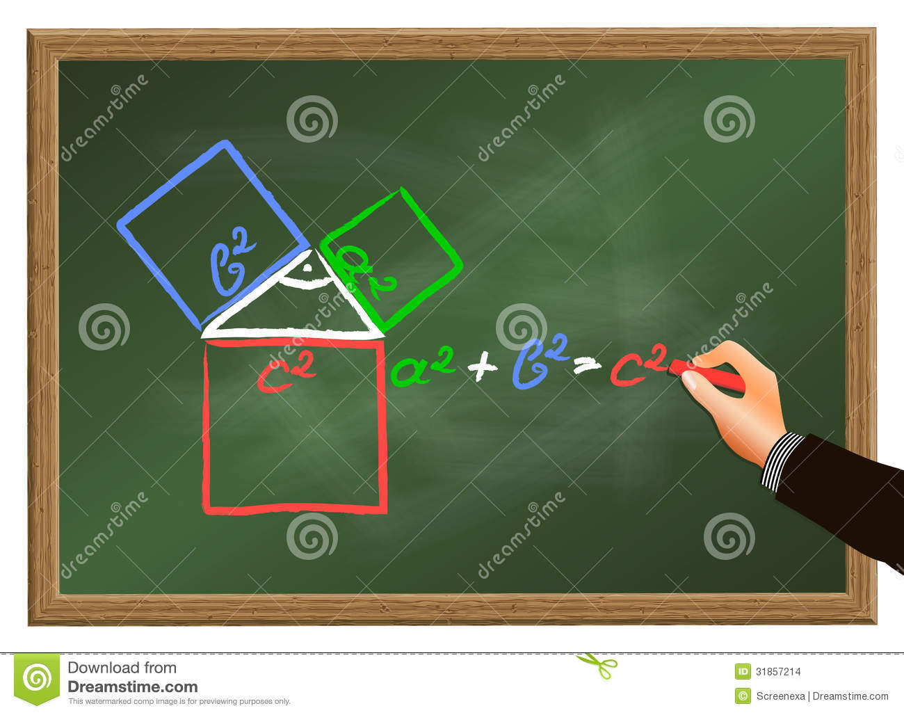 The Pythagorean Theorem Stock Images.
