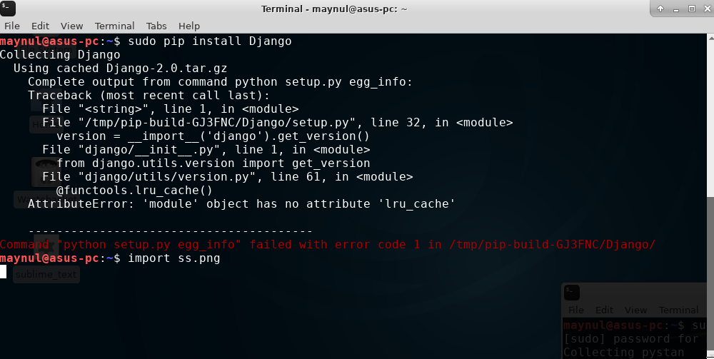 python: can\'t open file \'setup.py\': [Errno 2] No such file.