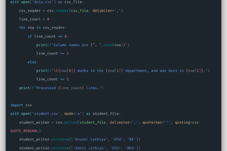Python CSV Tutorial.
