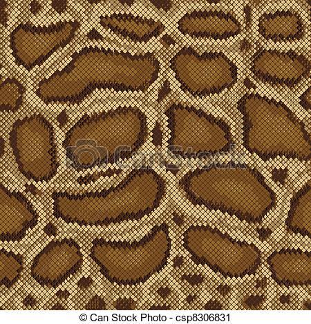 Vector Clip Art of Python Pattern.