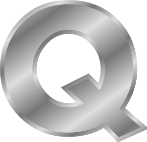 Effect Letters Alphabet Silver Q clip art Free Vector / 4Vector.