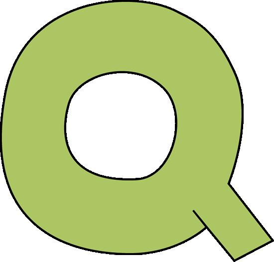Green Letter Q Clip Art.