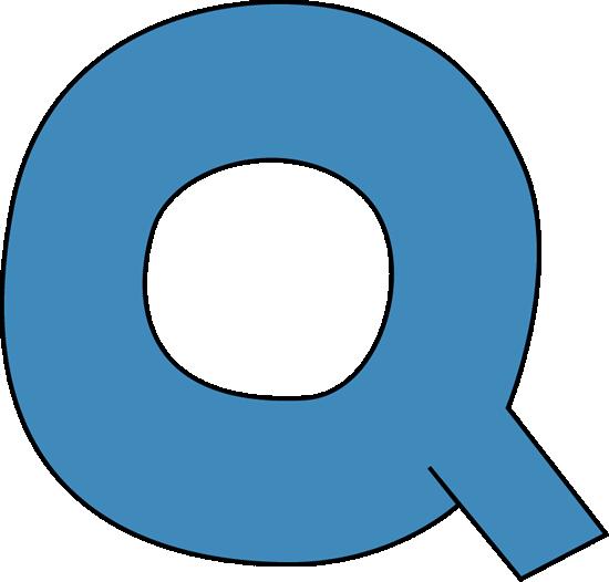 Alphabet Letter Q Clipart.