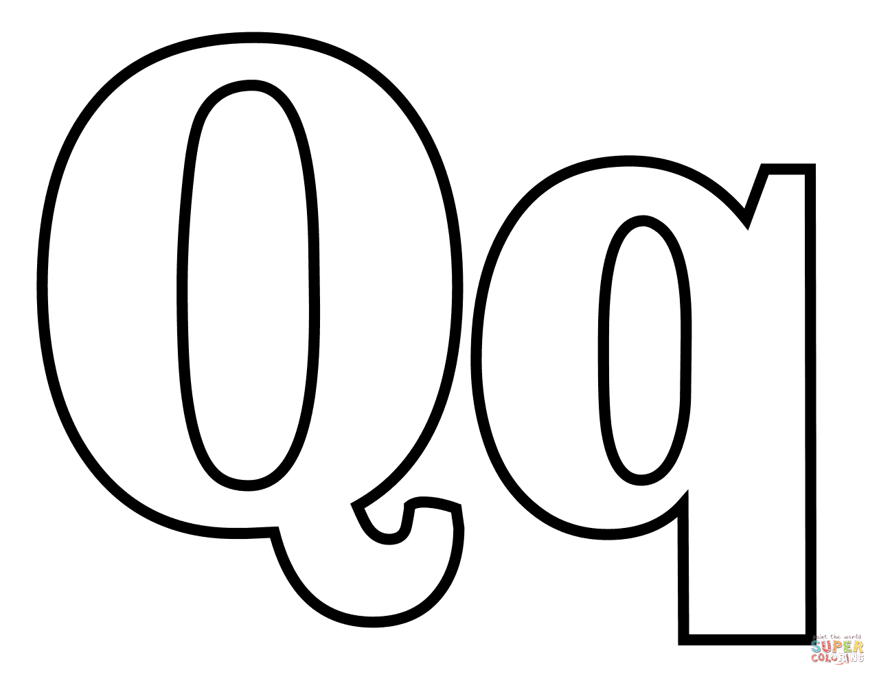 Letter Q Clipart Black And White Format.