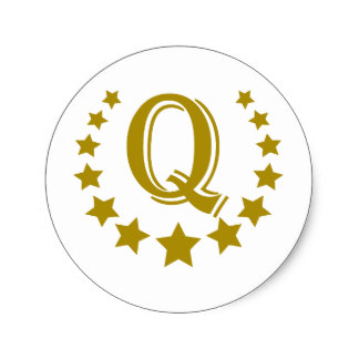 Q Letter Stars Crown Gifts on Zazzle.