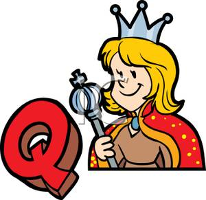 Q Letter With Crown Clipart.