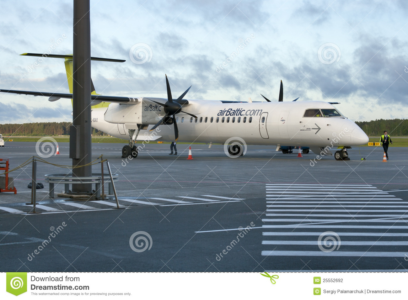 AirBaltic Bombardier Dash 8 Q400 NextGen Editorial Photography.