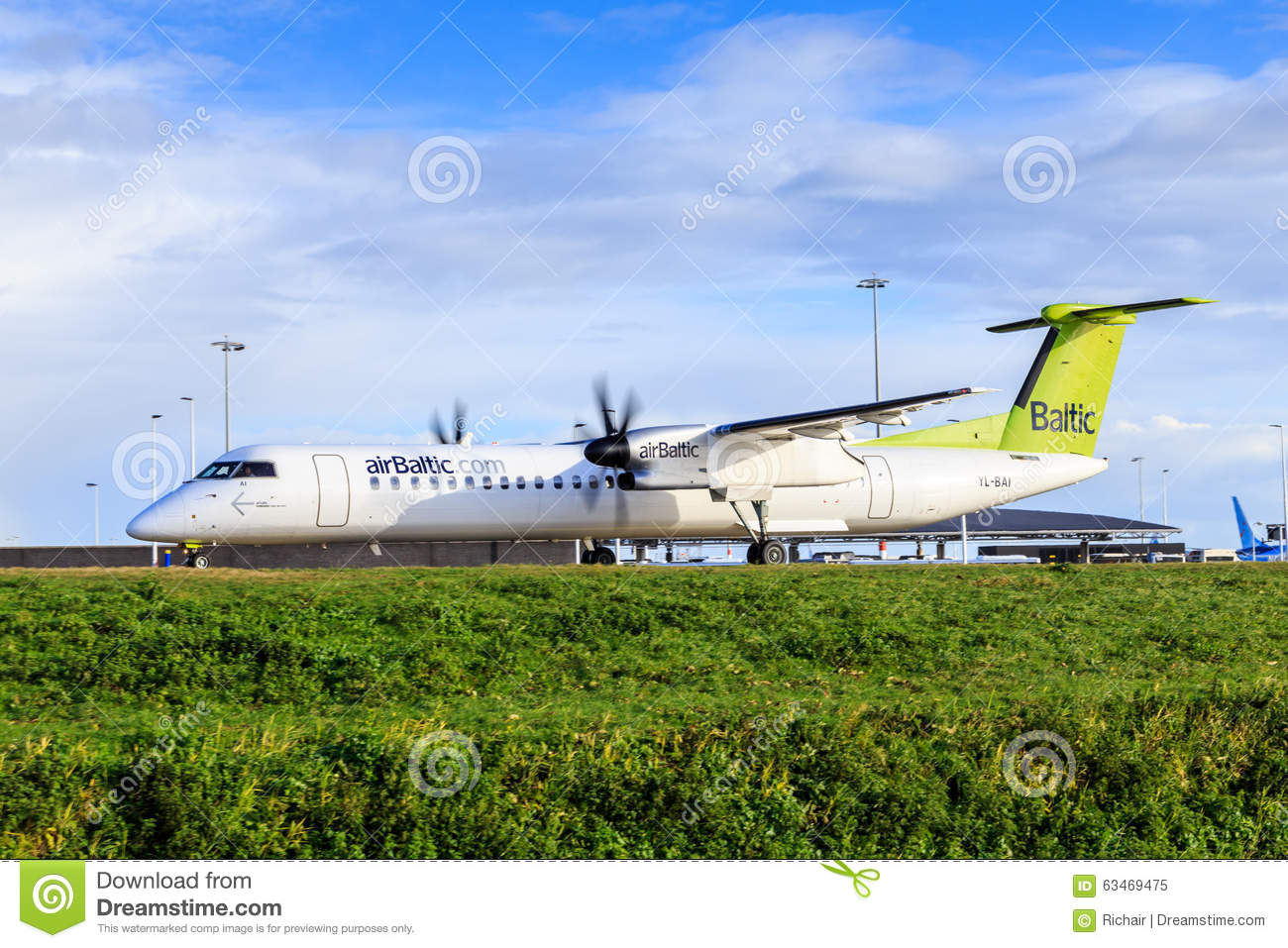 Air Baltic Bombardier Q400 Editorial Image.