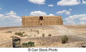 Stock Image of Kaharana desert castle.