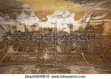 "Stock Images of ""Frescoes, wall paintings, bathhouse, desert."