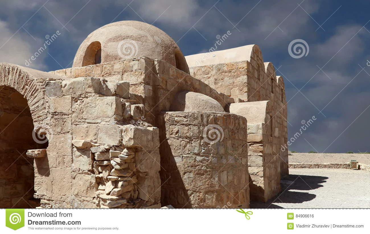 Quseir Qasr Amra Desert Castle Near Amman, Jordan. World Heritage.
