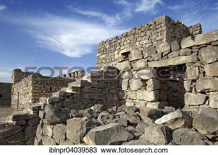 "Stock Photo of ""Desert castle Qasr Al."