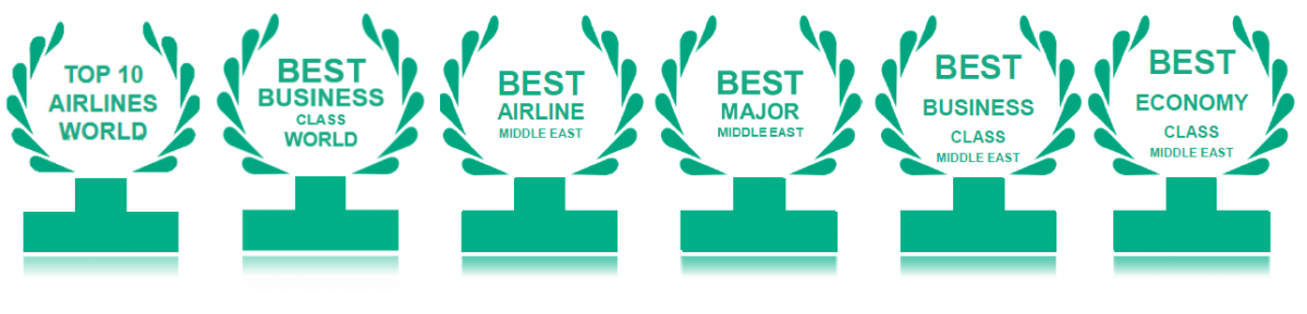 Qatar Airways wins 6 TripAdvisor Travelers\' Choice Awards.
