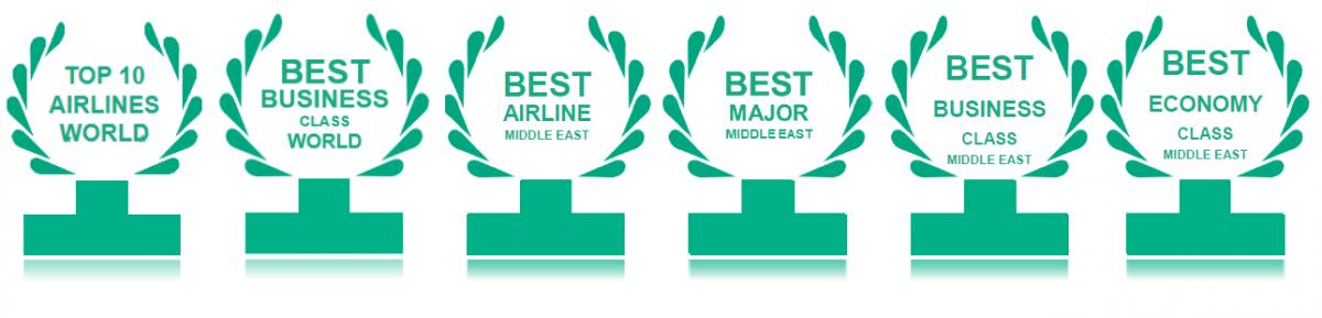 Qatar Airways wins 6 TripAdvisor Travelers\' Choice Awards.
