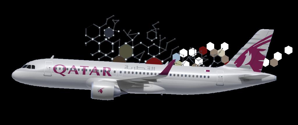 Fly Qatar Airways.