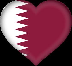 Qatar flag clipart.