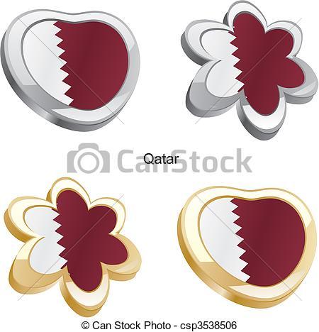 Vector Clipart of Qatar Flag.