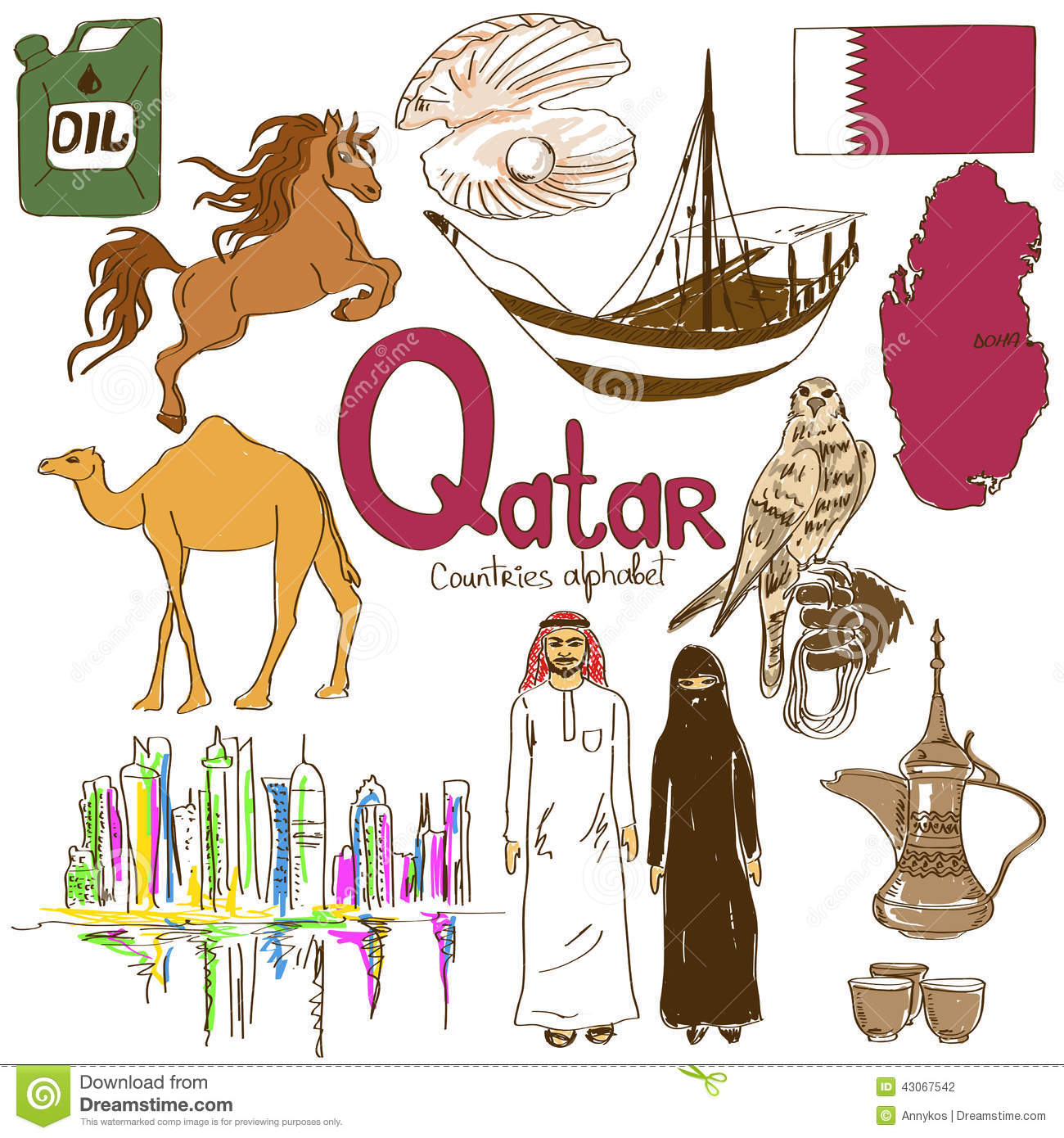 Animal Bazaar In Souq Wakif, Doha, Qatar Editorial Stock Photo.