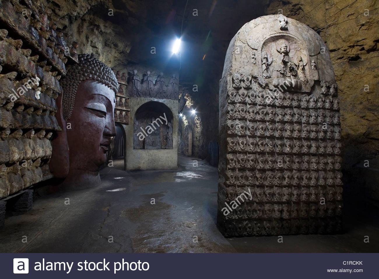 Thousand Buddha Mountain, Qianfo Mountain, Wanfo Cave, Jinan Stock.